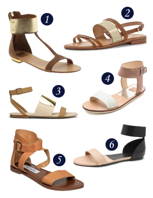Thicker strapped sandals are becoming more and more popular.