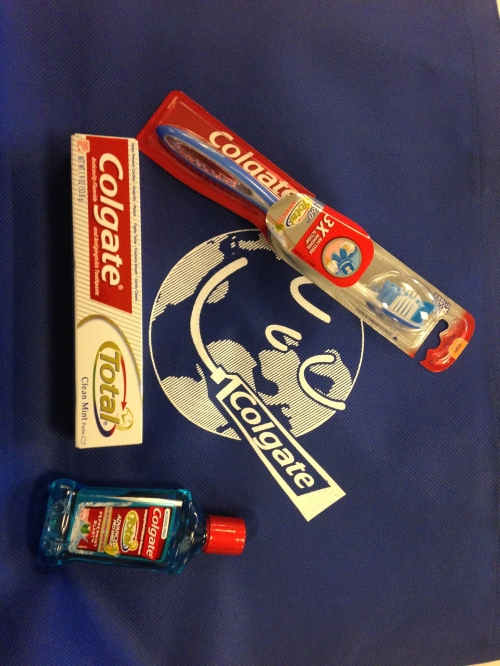 Our swag bag from Colgate!